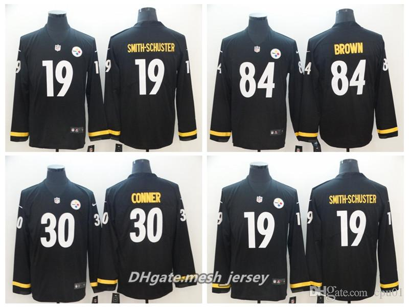 8cf483369 Men Pittsburgh Steelers 19 JuJu Smith-Schuster 30 James Conner 84 ...