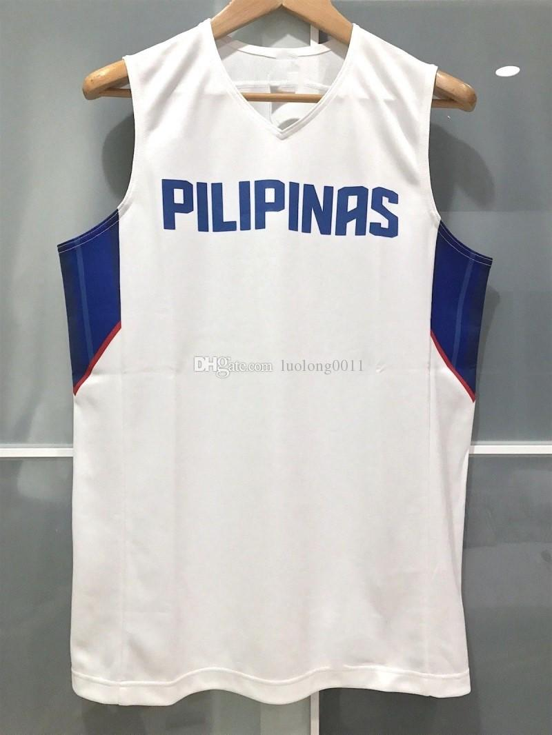 6b492a32649a 2019 PHILIPPINES GILAS PILIPINAS FIBA BASKETBALL JERSEY Embroidery  Stitching To Customize Any Name And Number From Luolong0011