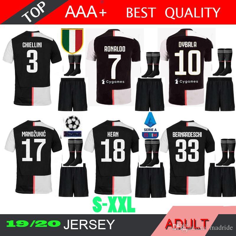 03476ba9e1c 2019 20 19 Juventus 7 RONALDO Soccer Jersey Kit 2020 2019 Juve 10 DYBALA D.  Costa MANDZUKIC BUFFON Third Football Shirt Uniforms From Madride, ...