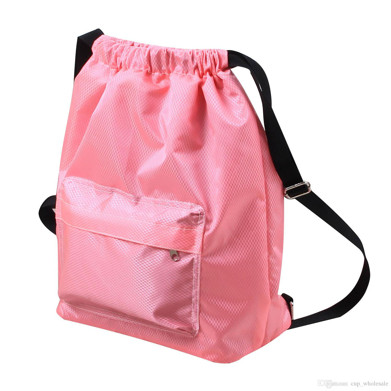 c132b61c0aee 2019 Drawstring Backpack String Bag Sackpack Cinch Water Resistant Nylon  For Gym Sport Yoga Dry Wet Separated Swimming Bag Men Women Kids From  Cup_wholesale ...