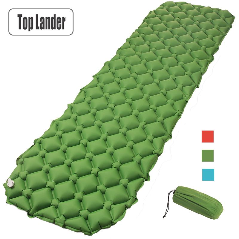 Air Mattress Inflatable Bed for Tent Portable Ultralight Sleeping Pad Air Bed Moistureproof Pad Waterproof Outdoor Camping Mat