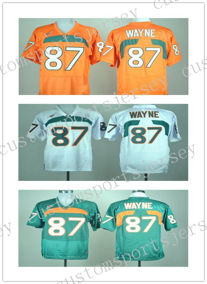 save off 74ab6 f3933 Cheap wholesale NEW Miami Hurricanes Reggie Wayne #87 College Football  Jersey Stitched high quality