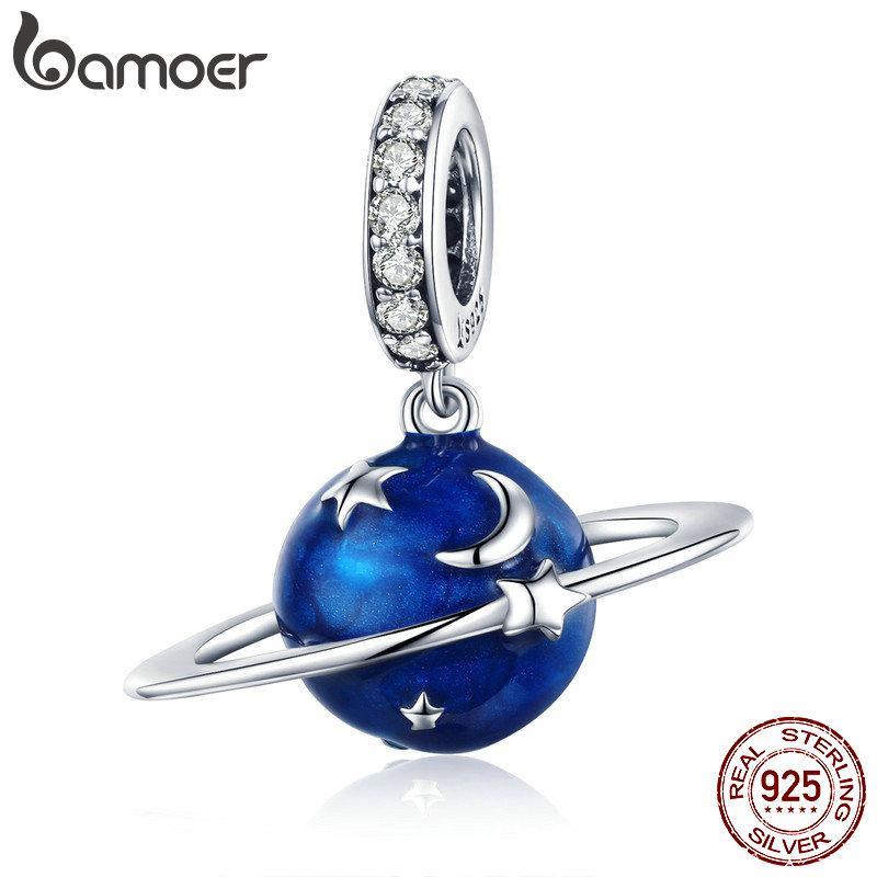 62510ee87f3 Acheter Pandora Style Argent Sterling 925 Secret Planète Lune Étoile  Pendentif Bleu Enamel Charmes Breloques Breloques Collier Argent De  18.18  Du ...