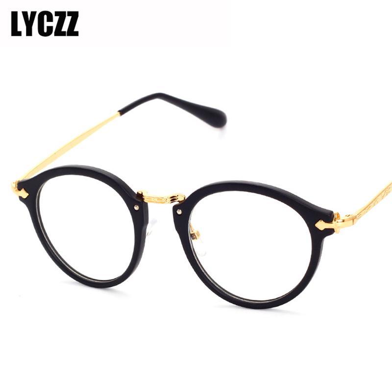 2ce738a03c6 LYCZZ Brand Ultralight Round Metal Eyewear Frames Men Women Vintage ...