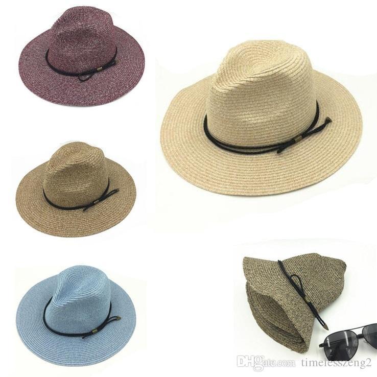 Compre Unisex Sombrero De Jazz Ventilar Sombrero De Paja Sombreros De Panamá  Sombrero De Fedora Hombre Mujer Sombreros De Sol Sombreros De Ala Ancha De  ... 29d6ae18e74