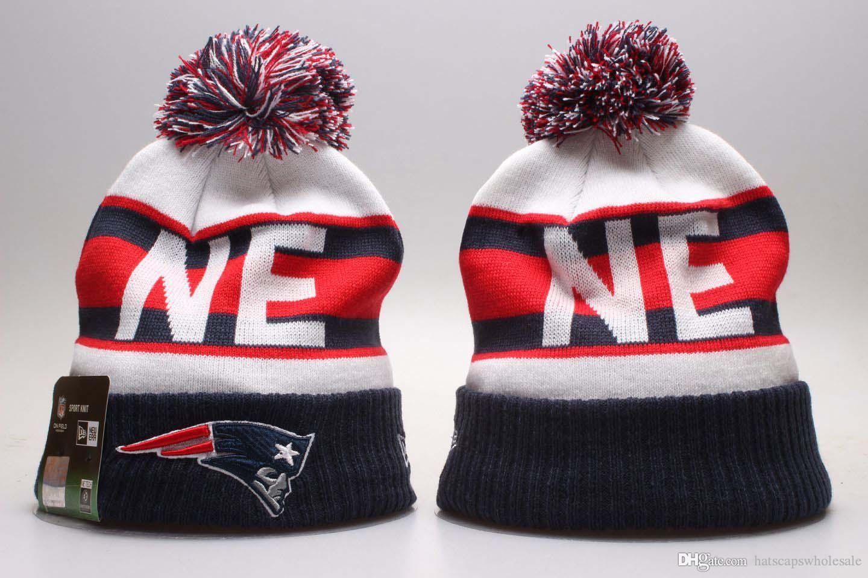 c9fb084446eec 2019 Winter New England Beanie Skull Hats for Men Women Knitted ...