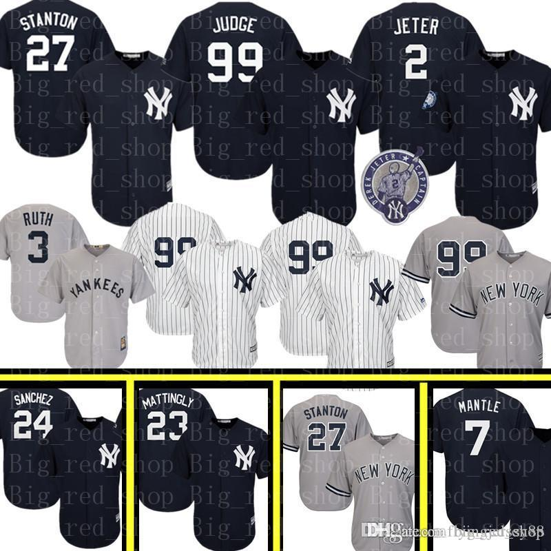 4143e3cd632 Yankees 99 Aaron Judge 27 Giancarlo Stanton Jersey New York Yankee 2 ...