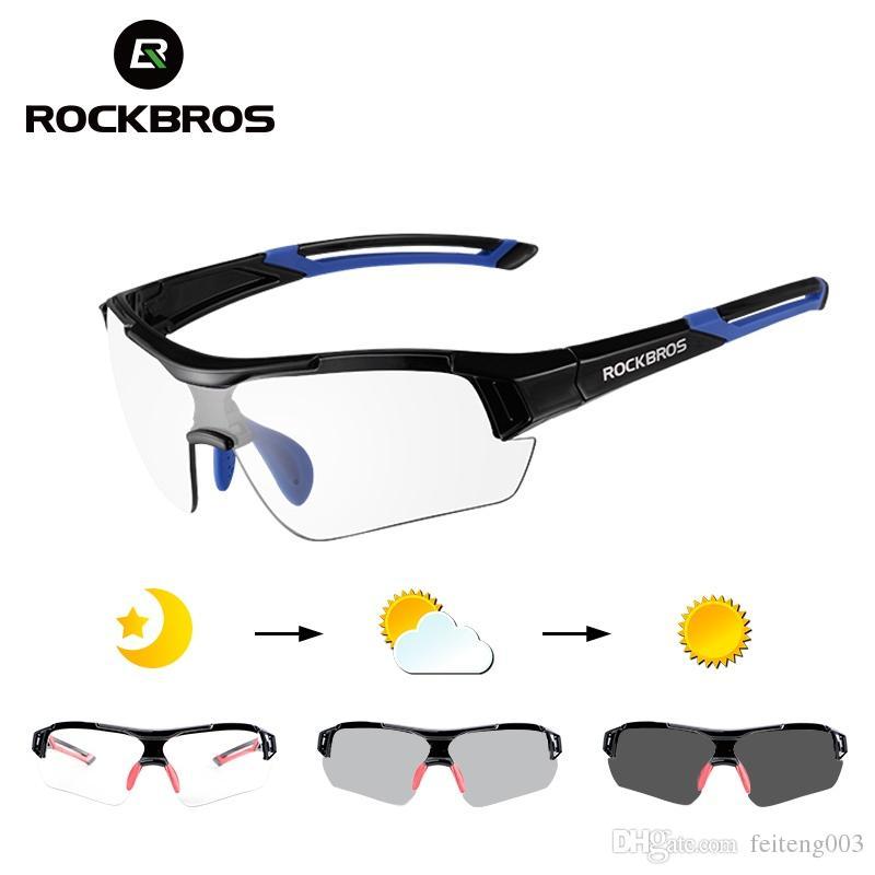 4f256f7945 ROCKBROS Gafas De Sol De Ciclismo Fotocromático Gafas UV400 Polarizado MTB  Bicicleta De Carretera Gafas Mujeres Hombres Deportes Al Aire Libre Gafas  De ...