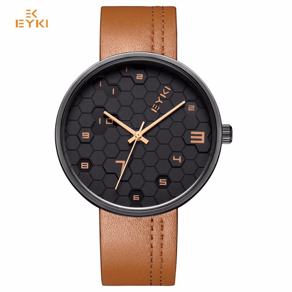 Lover's Watches Creative Lovers Watches For Men Womens Leather Strap Quartz Watch Mens Cool Clock Womens Dress Wrist Watch Couple Gift 2018 #d