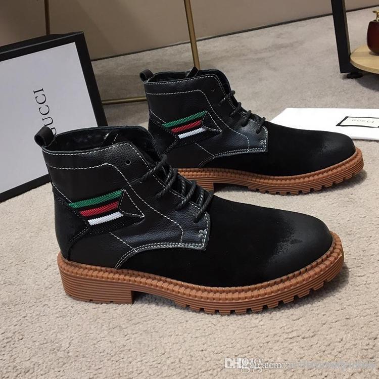 2dfa7e9bcccf7 Compre Zapatos Para Hombre Gvccl Lujo Stivali Da Uomo All aperto Senderismo  Botas Italia Moda Hombres Zapatos Scarpe Da Uomo Invernali Tela De Cuero  Bota A ...