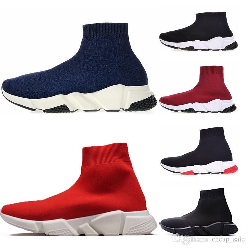 33a1ca153e7 ... Para Hombre Calcetín Entrenador De Velocidad Zapatillas Clásicas Mujer  Negro Rojo Blanco Rojo Azul Zapatillas Calcetines Race Runners Calzado  Deportivo ...