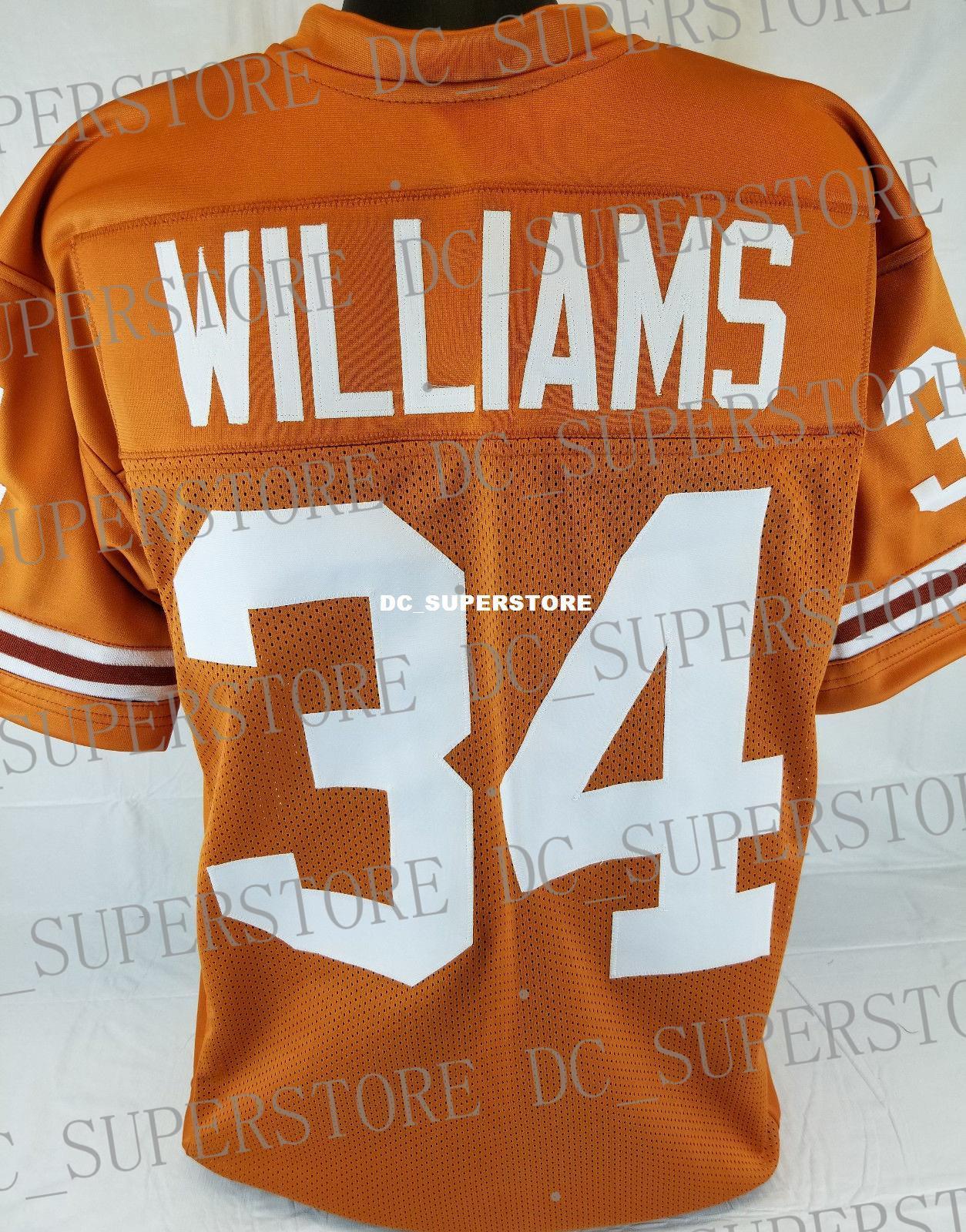 ada84d1a3d6 Cheap Custom Williams  34 College Style Football Jersey Customized ...