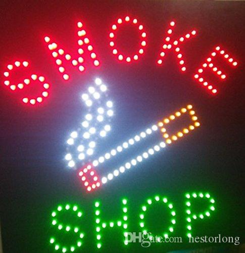 Square Led Smoke Shop Open Neon Signs for Business Store Led Sign 48 X 48 CM