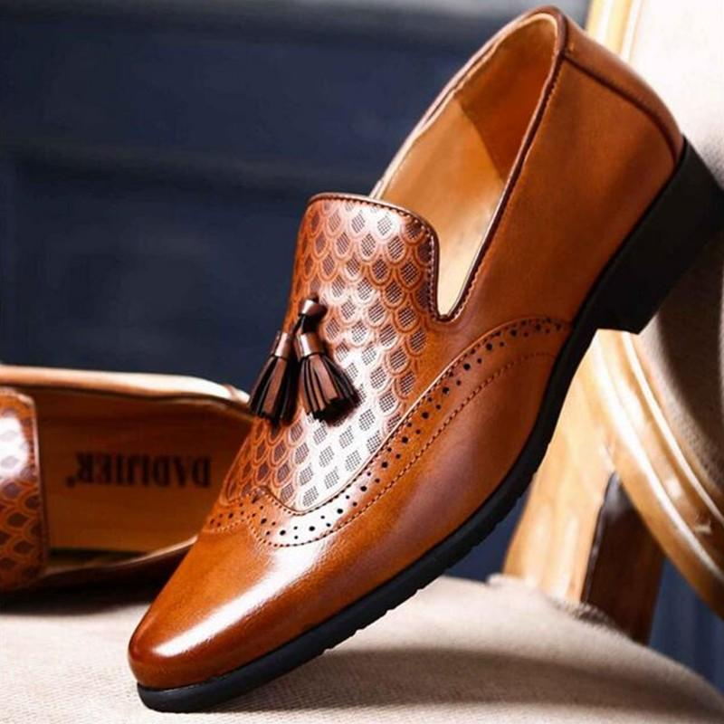 10b629e344 Pointed Toe Mens Dress Shoes Leather Luxury Wedding Shoes Floral Print Men  Flats Office Wedding Party Formal Wedges Shoes Black Shoes From Yunduoa