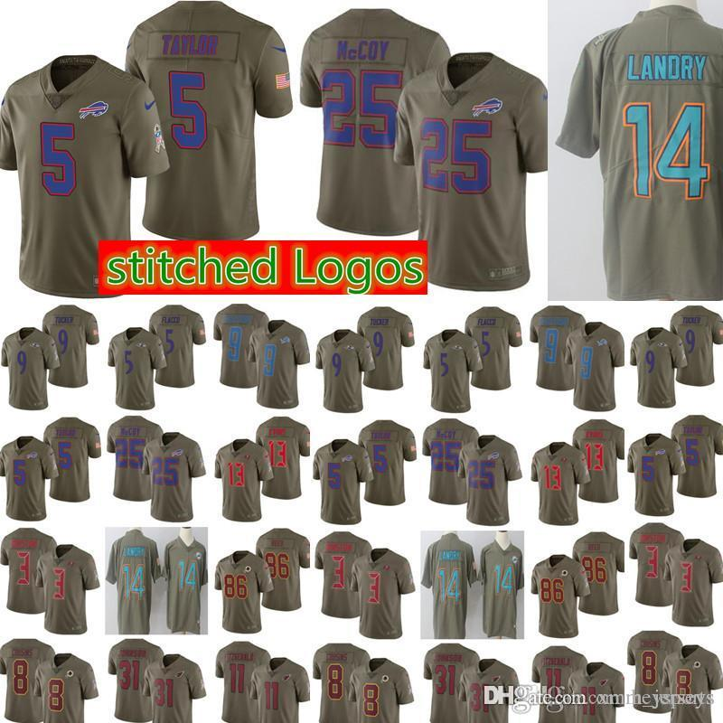 d7ef2aab9 ... wholesale 2018 2017 salute to service buffalo bills jersey mens 5 tyrod  taylor 25 lesean mccoy