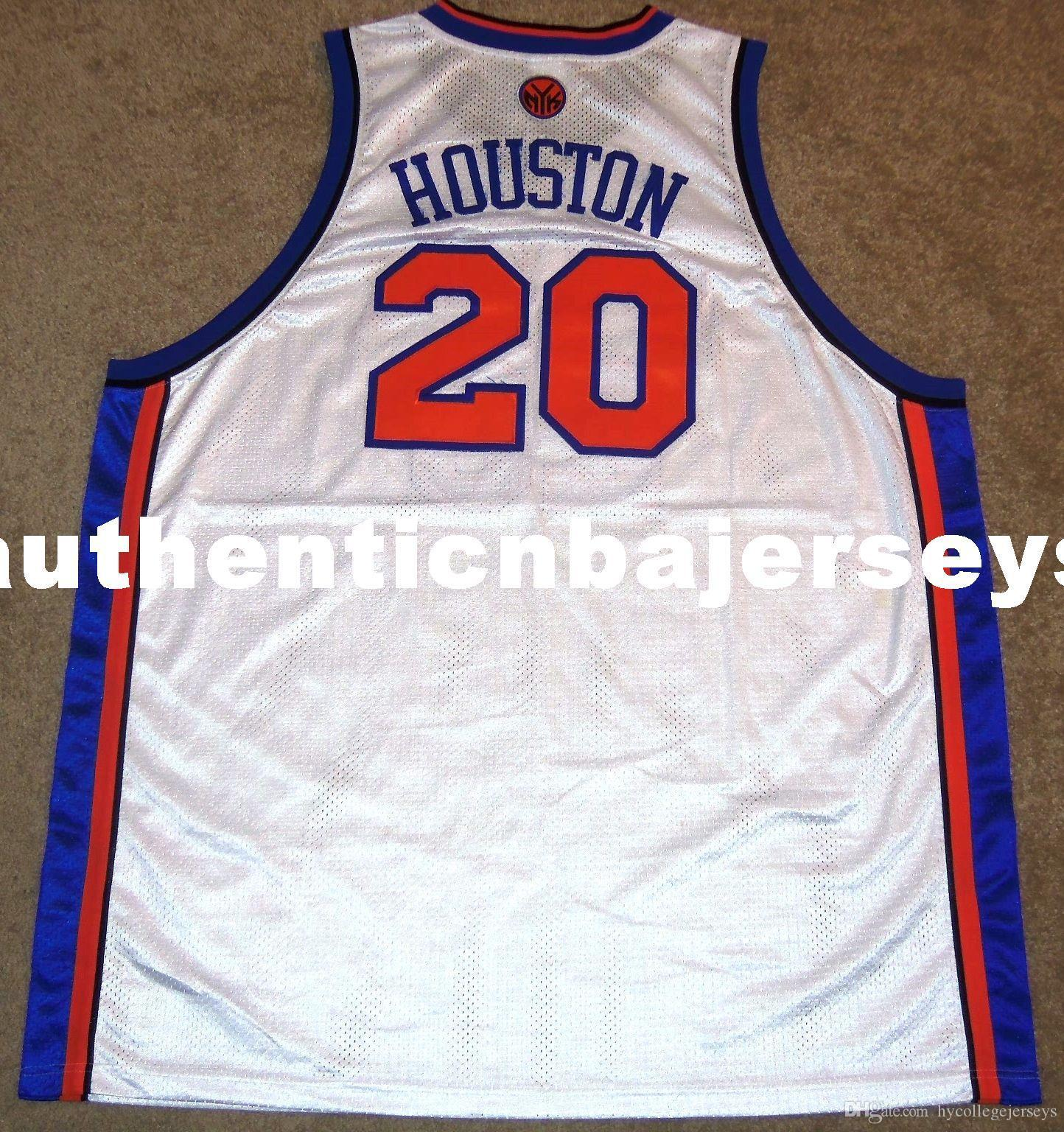 New Top ALLAN houstons #20 high quality Rbk HOME JERSEY SEWN! Mens Vest Size XS-6XL Stitched basketball Jerseys Ncaa