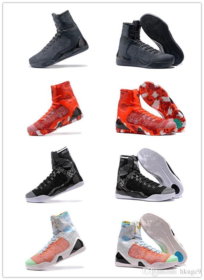 0e881b5d86b Cheap Sale Kobe 9 High Weaving BHM Easter Christmas Basketball Shoes ...