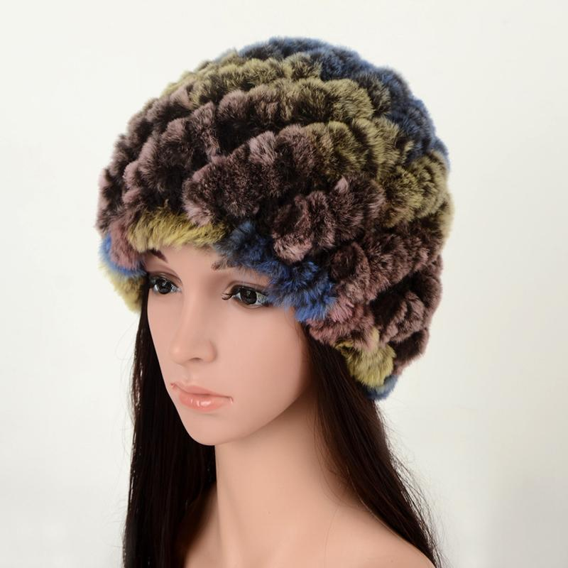2019 Real Fur Hat Rabbit Fur Hat Caps Ladies Outdoor Warm Flowers Braided  Ladies Women For Autumn Winter Bonnet From Heheda1 da38c52ebcc