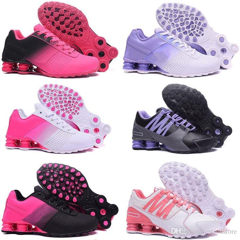 best service 52913 e8422 Hight Quality Shox Avenue Sports Running Shoes For Women Black White Shox  Deliver NZ R4 Women Runner Sneakers Red Man Trainers Tennis Shoes Track  Spikes For ...