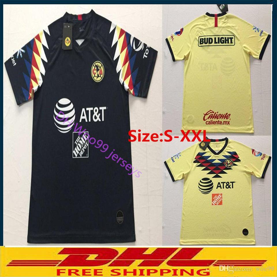 quality design 90f7e 17e66 S-XXL DHL Free shipping 2019 2020 LIGA Club America soccer Jerseys home  away 18 19 20 Club America soccer Jerseys Size can be mixed batch