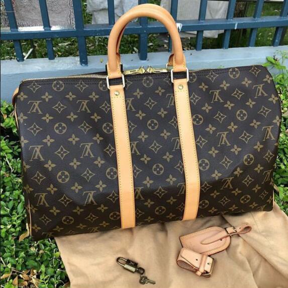 b1ca2e8654 LOUIS VUITTON SUPREME Luggage Bags Women Leather Handbags MICHAEL 0 KOR Travel  Bags For Men Duffle Bag Tote Purse Shoulder Bag KEEPALL 55cm LV YSL GUCCI