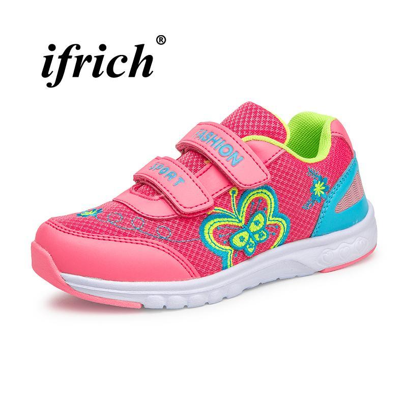 Mädchen Laufschuhe Rosa Rose Rot Marke Kinder Trainer Mädchen Frühling Herbst Schule Schuhe für Atmungsaktive Anti slip Turnschuhe