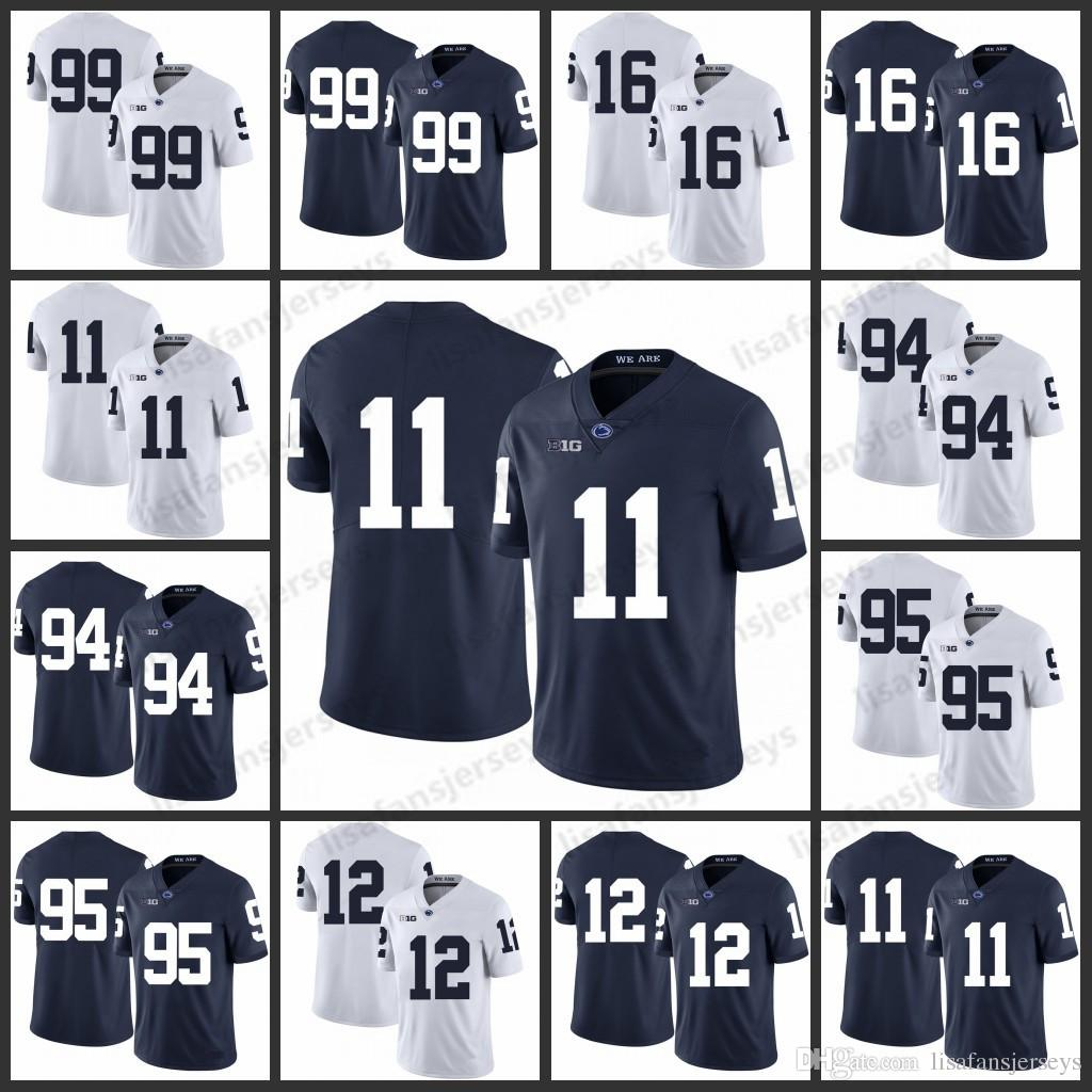 separation shoes c54b5 2a29c Penn State Nittany Lions Jerseys 99 Austin Johnson 11 Brandon Bell 16 Billy  Fessler 94 Cameron Wake Nassib Godwin College Football Jersey
