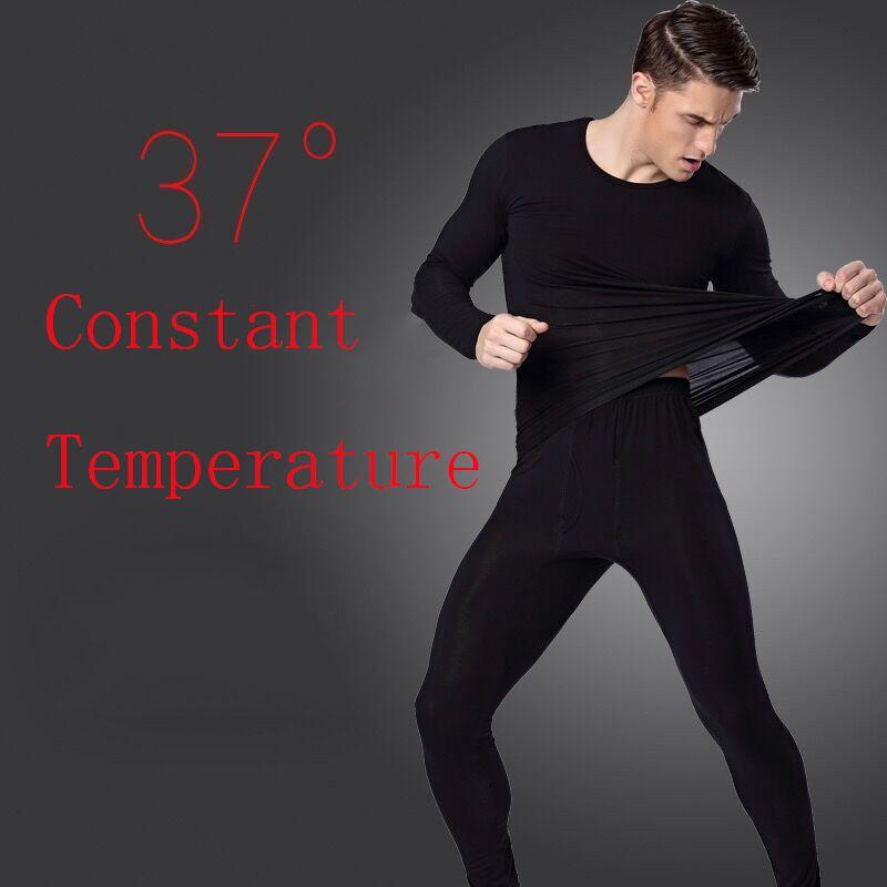 size 40 f5230 98f05 Winter 37 Grad Konstante Temperatur Thermo-Unterwäsche für Männer  Ultradünne elastische Thermo-Unterwäsche nahtlose lange Unterhosen