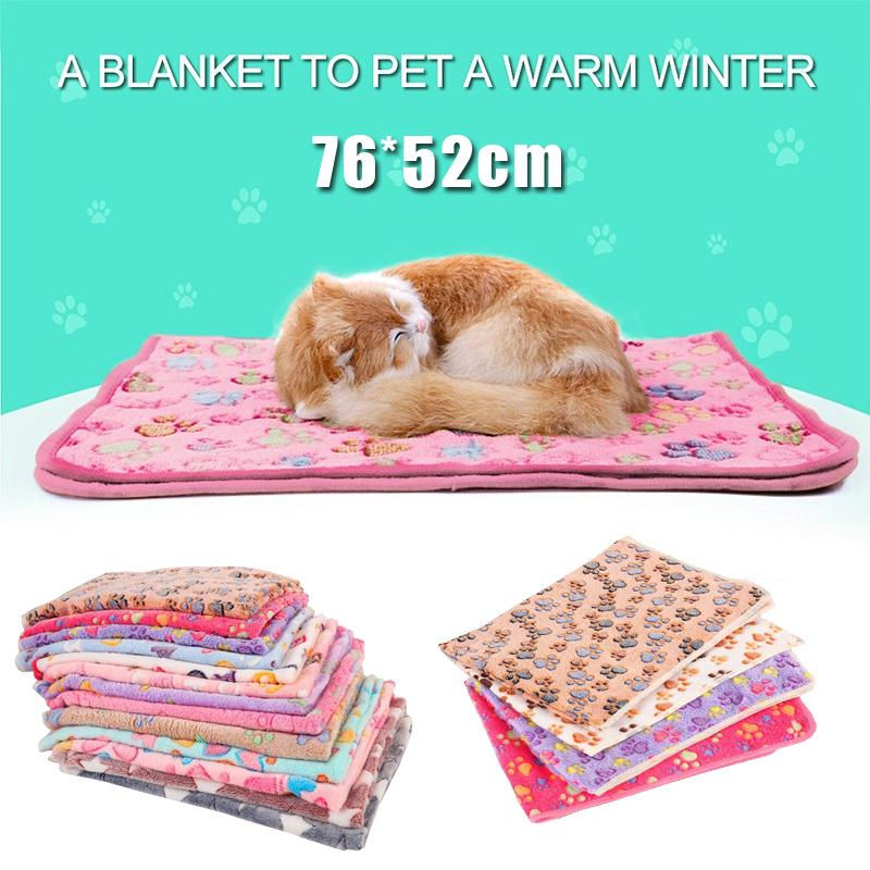 Comfortable Coral Fleece Pet Kennel Cushion Pads For Cats/Dogs/Small Animals