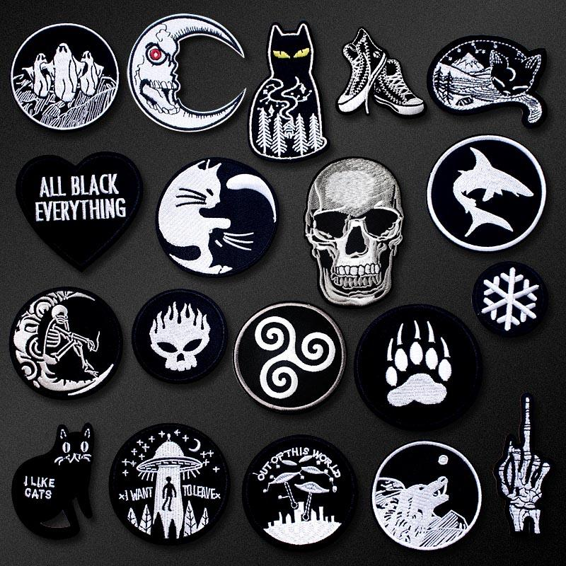 CAT UFO HAND DIY Cartoon Badges Embroidery Repair Patch Applique Ironing  Clothing Sewing Supplies Decorative Patches