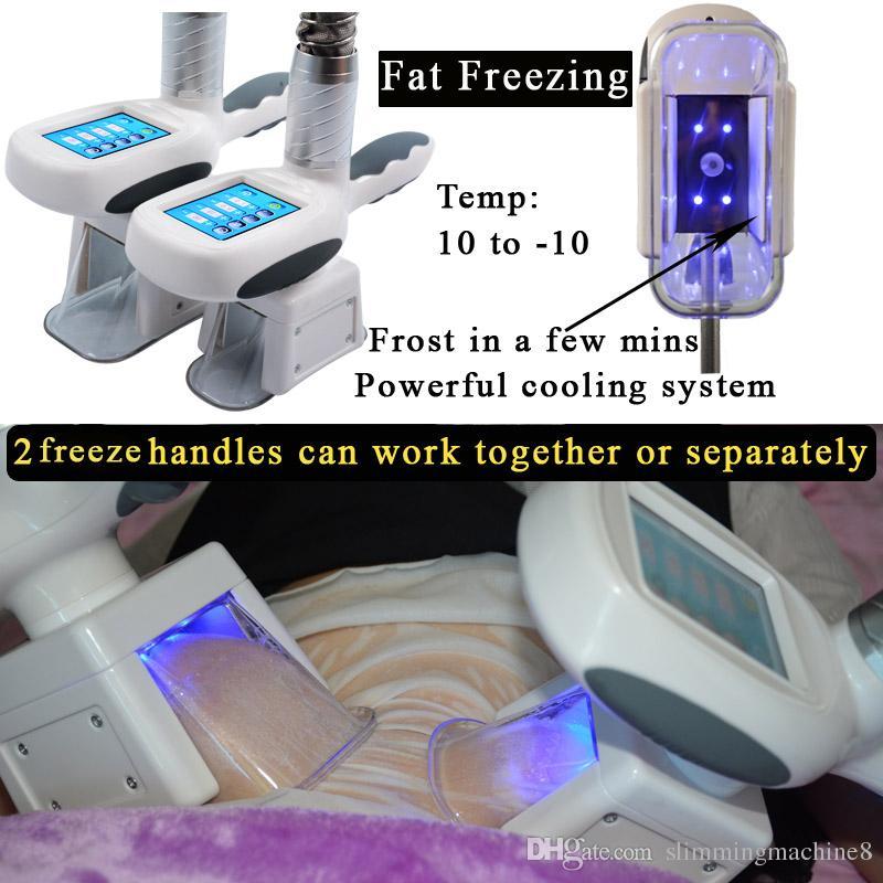 máquina de congelação de gordura da cintura emagrecimento máquina de cavitação rf redução de gordura lipo laser 2 cabeças de congelamento pode trabalhar ao mesmo tempo