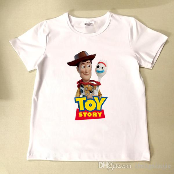2019NEW Kids boys girl clothes summer Short sleeve BABY T shirts lovely cartoon forky Printed t-shirt BJN413