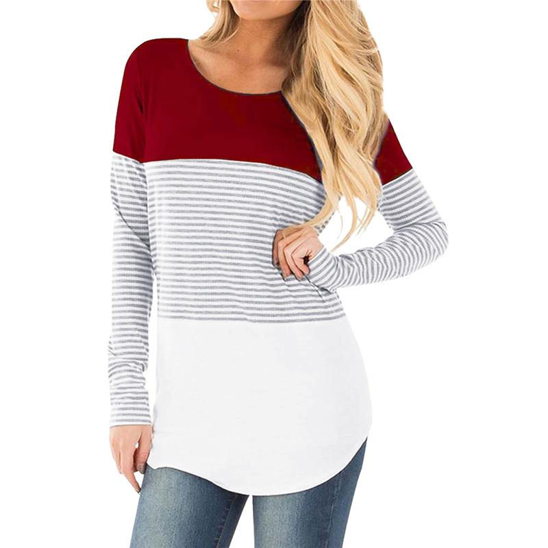 e2210f24b6b0d 2019 2018 New Women Ropa De Mujer Shirt Maternity Mom Pregnant Clothes  Nursing Baby Maternity Long Sleeved Striped Tees Clothes Jurk From  Z6241163, ...