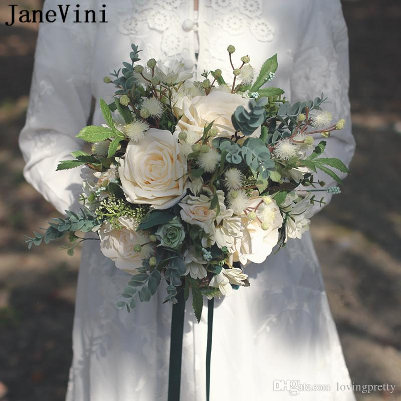 Vintage Wedding Flower Bouquets: JaneVini Vintage Wedding Bouquets Bohemian Garden Flowers