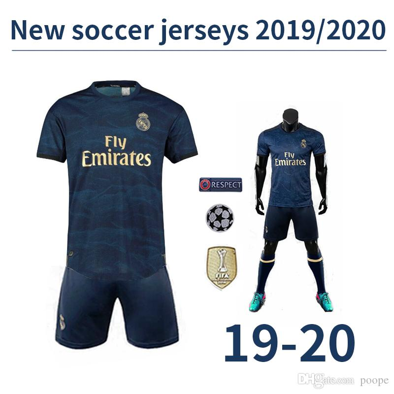 New 2019 real Madrid away soccer jerseys 19 20 HAZARD camiseta de fútbol 2019 2020 VINICIUS ASENSIO football shirt camisa futebol tracksuit