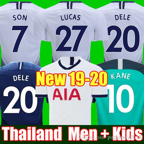 brand new 3273a d1ec8 Top thailand KANE spurs Soccer Jersey 2018 2019 2020 LUCAS ERIKSEN DELE SON  jersey 18 19 20 Football kit shirt Men and KIDS KIT SET uniform