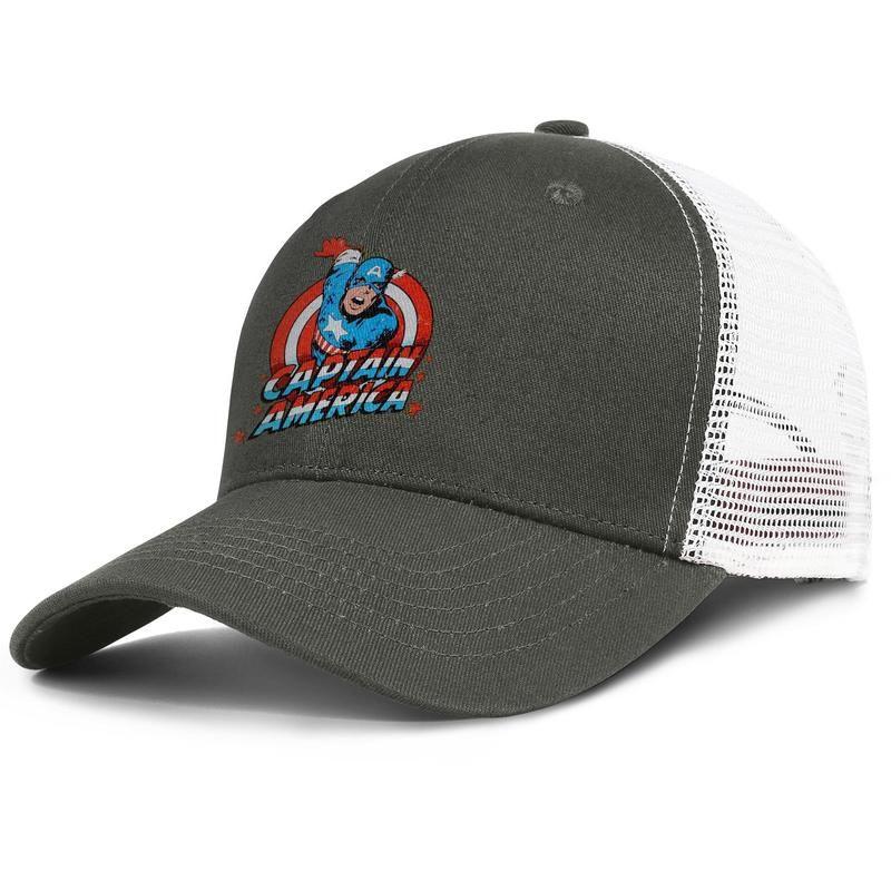 077031074 Luxury Mesh Visor hat Men Women-Captain America Classic Marvel Comics Tin  Sign designer hat snapback Adjustable Golf caps Outdoor