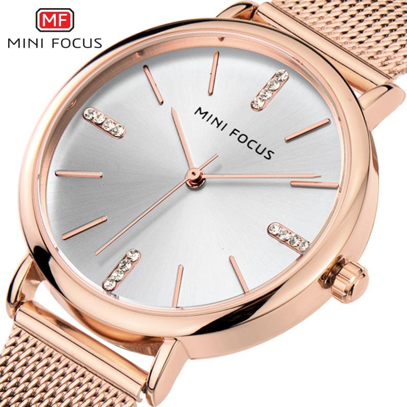 Compre MINI FOCUS Reloj De Lujo Para Mujer Relojes De Diamantes Reloj De  Cuarzo Pulsera De Malla Pulsera A  25.94 Del Royqian  462ae515b348