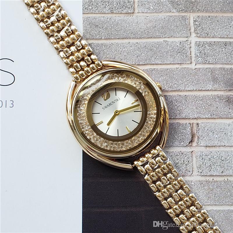 3f5be34b179e Compre 2019 Ultra Marca Oro Rosa Mujer Diamante SwarovskI Relojes Marca  Lujo Enfermera Damas Vestidos Mujer Joyería Hebilla Reloj De Pulsera  Regalos Para DZ ...