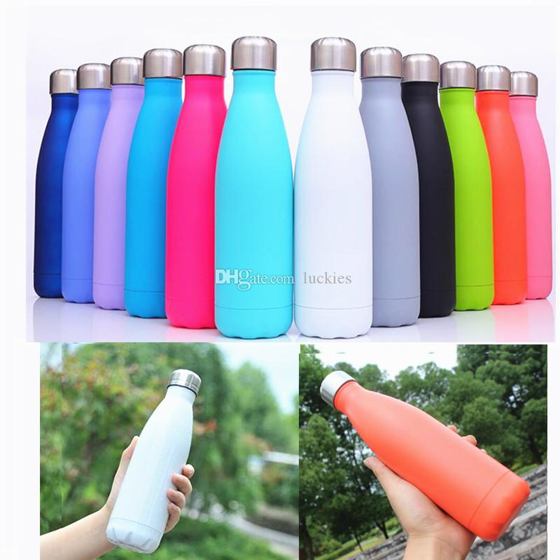 Cola Shape Water Bottle Thermal Cup Stainless Steel Heat Insulation Drink Bottle Outdoor Portable Thermos Flask Bicycle Water Bottle 0385