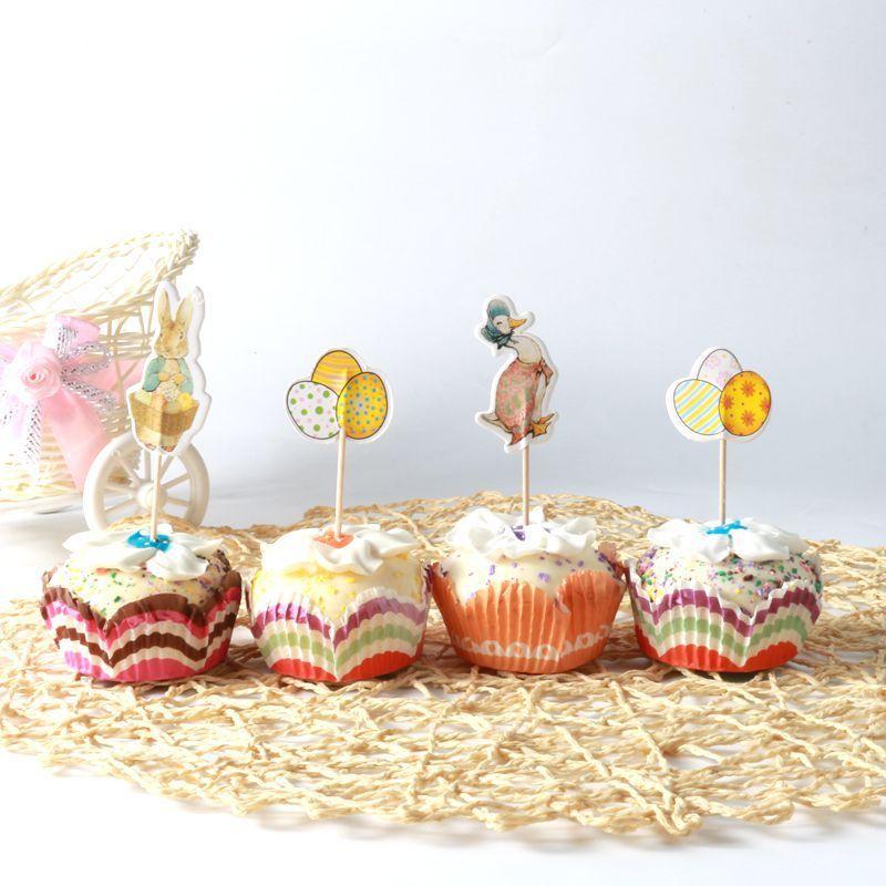 Easter Egg Rabbit Cake Decoration Birthday Party Decorations Kids Baby Shower Easter Decoration Wedding Party Decoration.Q