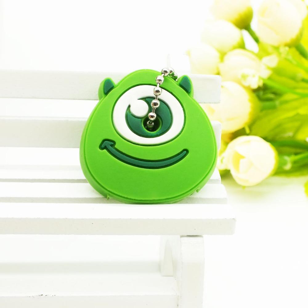 Zoeber 2018 Cartoon cute key cover Anime Silicone Key chains Funny animal key Holder caps keychain