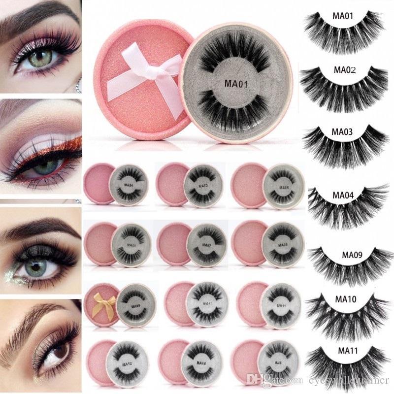 e437c9996ac Mink False Eyelashes 3D Faux Mink Lash Reusable Fluffy Eyelash Invisible  Band Dramatic Lashes Pink Glitter Package Eyelash Extension Kits Eyelash  Extension ...