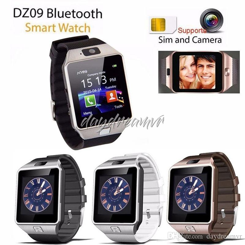 New DZ09 Smartwatch Smart Watch Digital Men Watch Bluetooth SIM TF Card Camera For Apple iPhone Samsung Android Mobile cell Phone