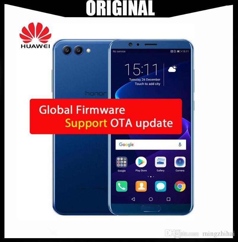 Wholesale Original Huawei Honor V10 Octa Core Phone 6G 64/128G 5 99inch  2160X1080P FingerPrint Dual Rear Camera Global firmware Andriod 8 0