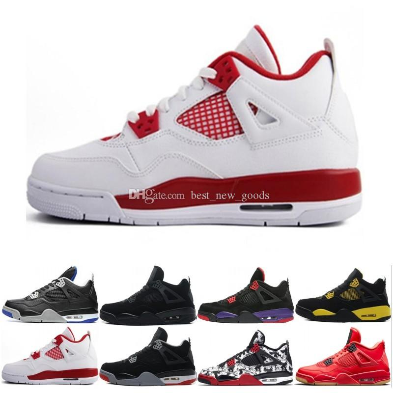 da9287057545ea 2019 4 4s Men Basketball Shoes Royalty Oreo White Cement Fire Red Fear  Premium Black Cat Bred Alternate Motorsport Blue Sports Shoes Sneaker From  ...