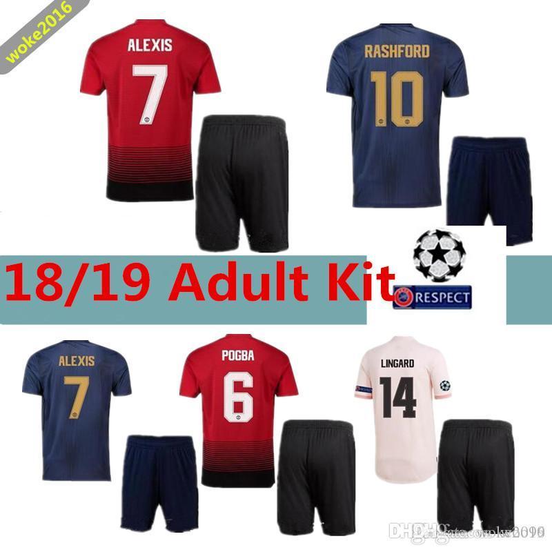 67de7790b Adult Suit MANCHESTER UNITED 18 19 ALEXIS LUKAKU Football Sweatshirt ...