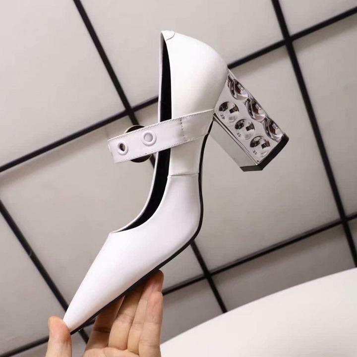 Factory price cat eye gold-plated thickened pointed shoes patent leather top brand luxury design original wedding 01shoes 8CM