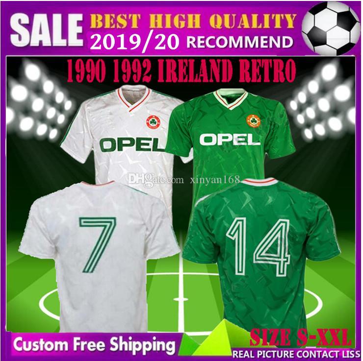 3f2d6316f Tamaño S XXL 1990 1992 Camiseta De Fútbol Retro De Irlanda 1990 Copa Del  Mundo De Irlanda Camiseta Clásica De Irlanda 90 92 Camisetas De Fútbol De  Irlanda ...