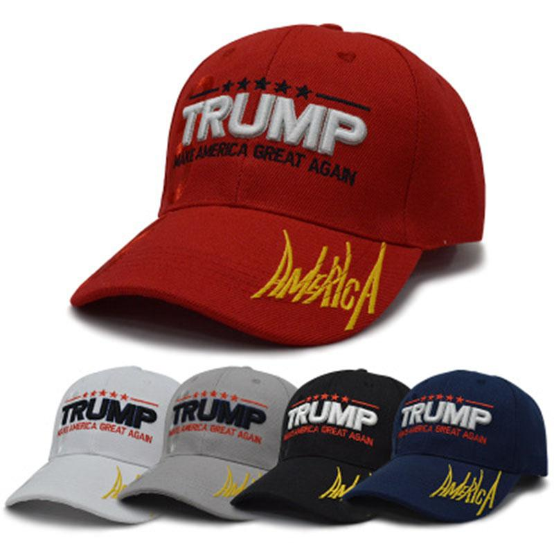 7b63b413785 3D Embroidery Baseball Cap President Election Hip Hop Hat Donald Trump 2020 Make  American Great Again Unisex Party Hats Party Favor Small Gifts For Wedding  ...